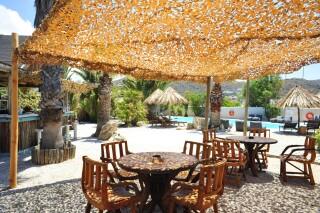 earth bar medusa beach resort in naxos tables