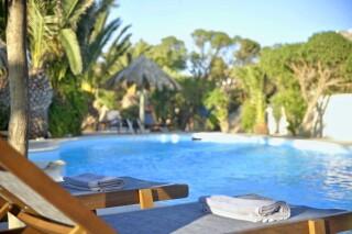 swimming pool medusa beach resort in naxos