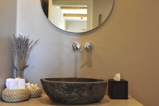 sea view suite medusa beach resort naxos bathroom