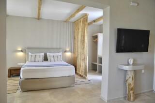 sea view suite medusa beach resort naxos bedroom